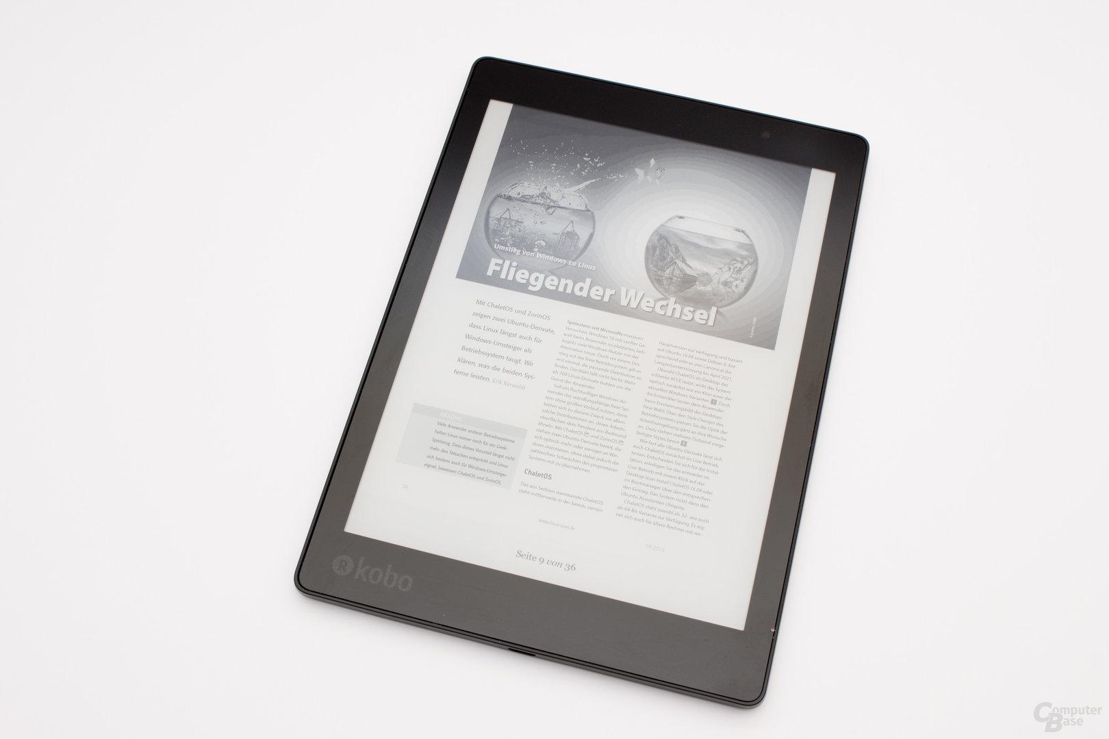 Der Aura One bietet im Gegensatz zum InkPad 2 eine rudimentäre PDF-Unterstützung