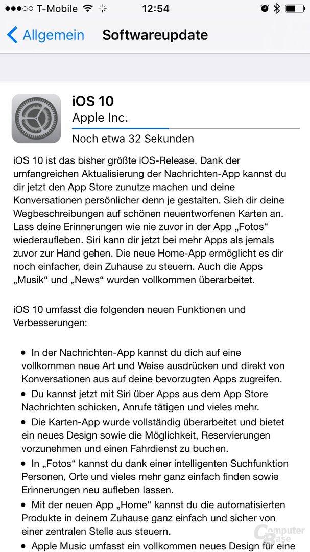 Gold Master von iOS 10 für Beta-Tester