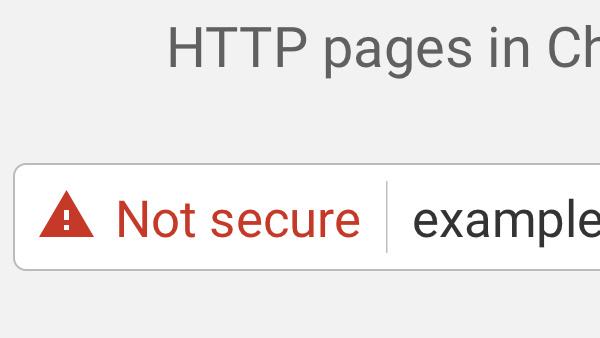 Google Chrome: Seiten ohne HTTPS werden als unsicher markiert