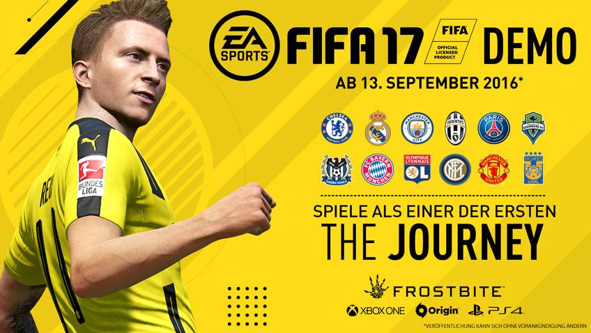 FIFA 17: Demo mit 12 Teams und 3 Stadien ab morgen