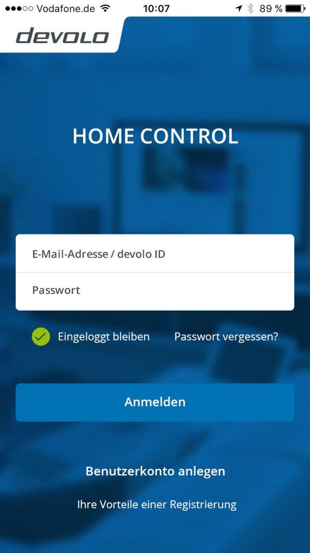 Vollständig überarbeitete Home-Control-App