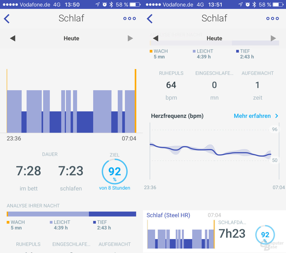 Withings Health Mate – Schlaf