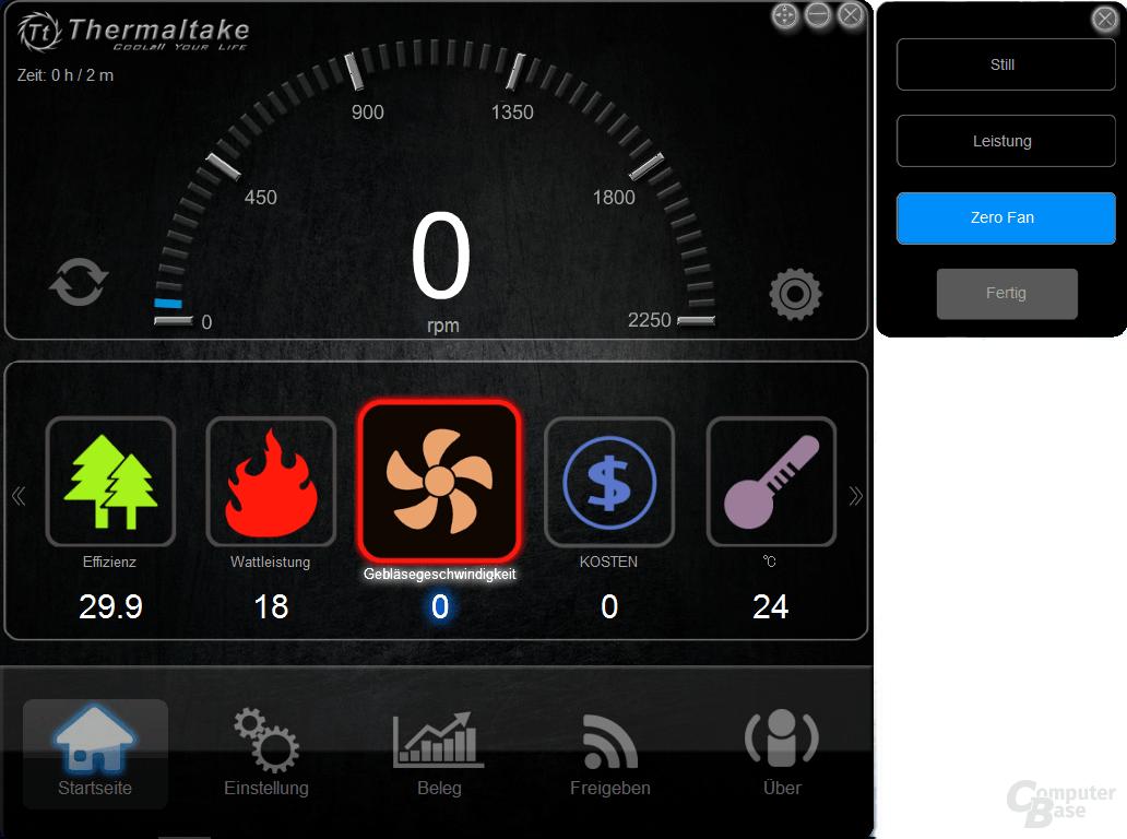 Thermaltake DPS G PC App – Silent Lüftermodus