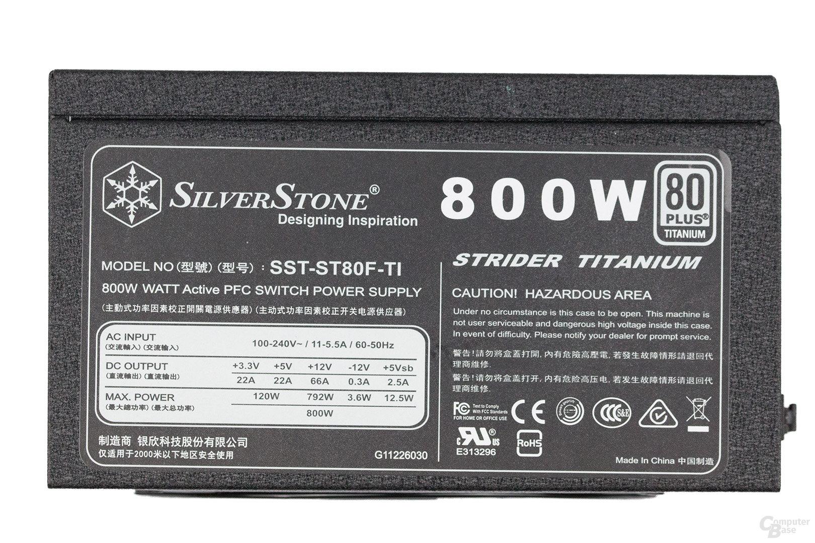 Silverstone Strider Titanium ST80F-TI 800W