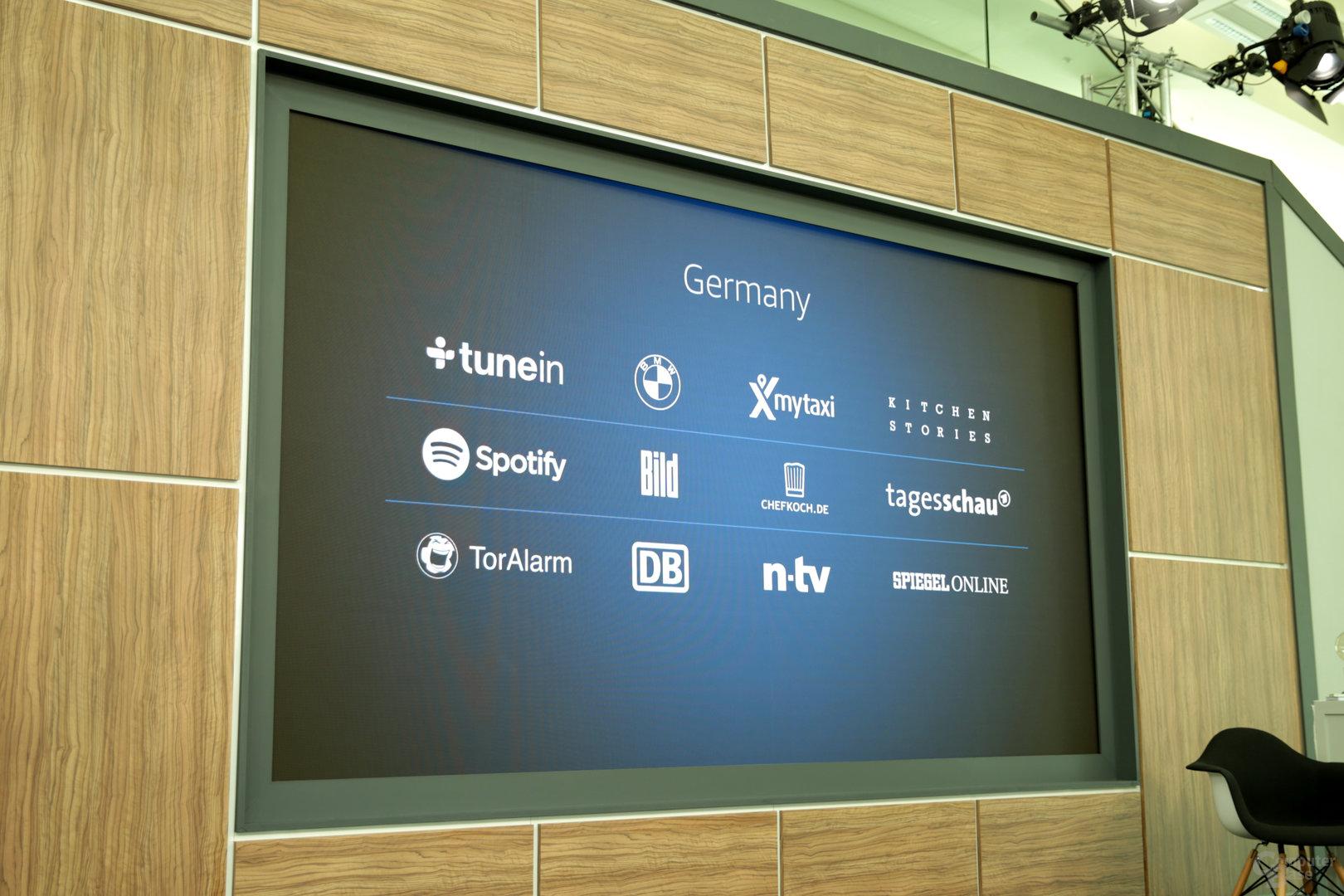 Alexa-Dienste für Deutschland