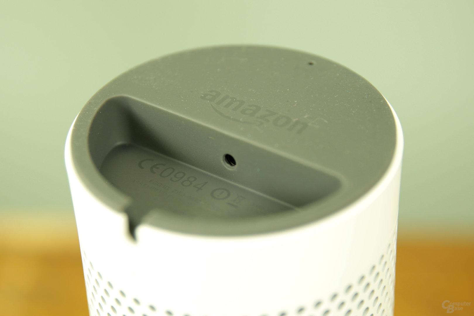 Amazon Echo – Unterseite mit Stromanschluss