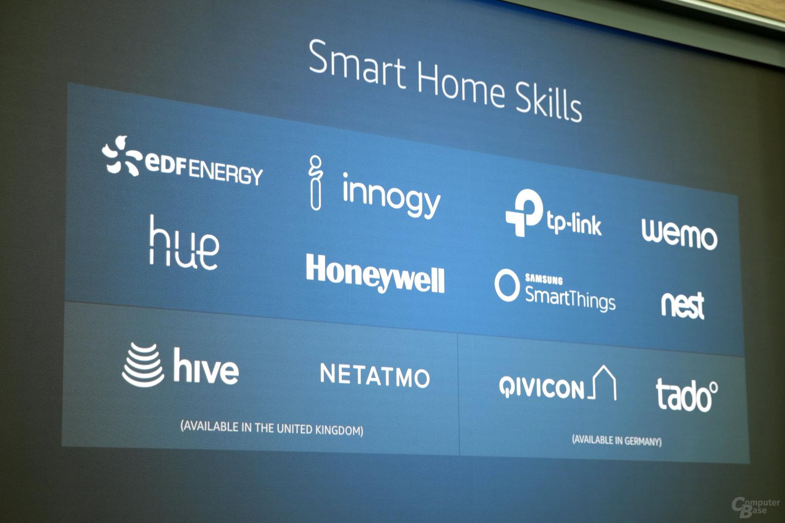 Smart-Home-Support von Alexa