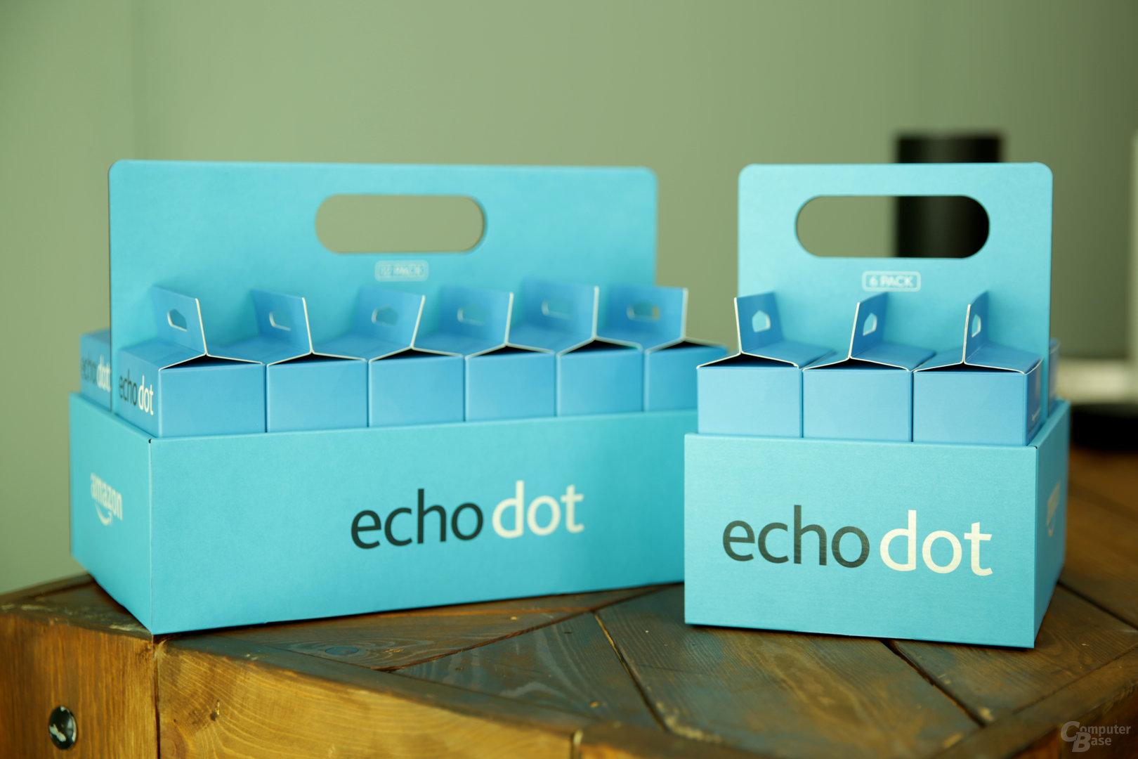 Amazon Echo Dot im Six- und Twelve-Pack