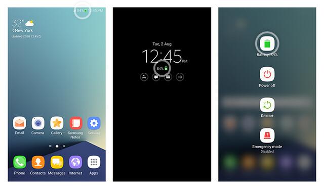Grünes Batterie-Symbol beim Galaxy Note 7 mit neuer Batterie
