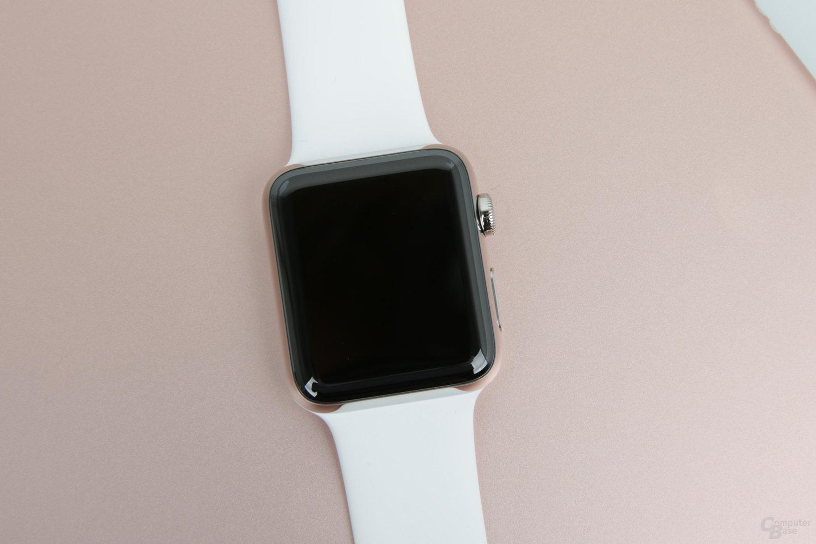 Die Apple Watch Series 2 in 42 mm aus Edelstahl