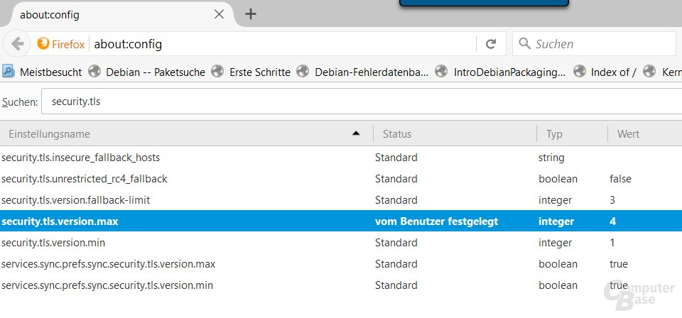 Firefox 49 unterstützt TSL 1.3
