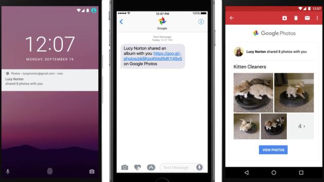 Google Fotos: App teilt Fotos zur Not auch über SMS