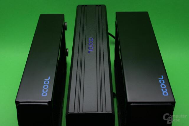 Größenvergleich: NexXxoS XT45, Eisbrecher und NexXxoS UT60