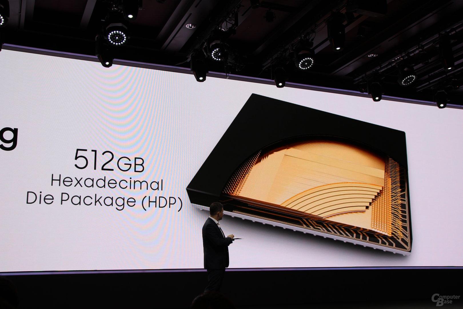 16 Dies in einem Package ergeben 512 GByte