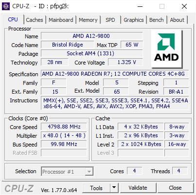 AMD A12-9800 mit 4,8 GHz unter Luftkühlung