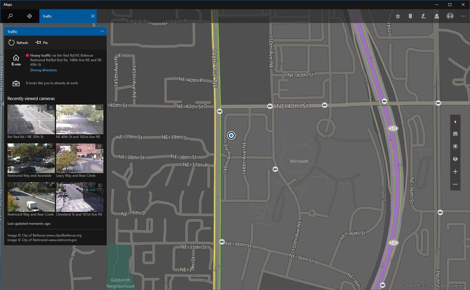 Karten-App im Dunkel-Modus