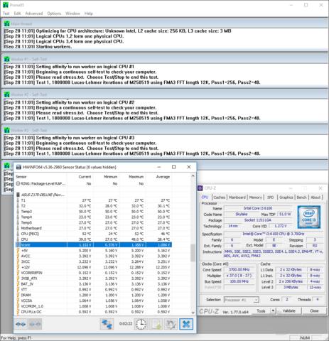 Intel Core i3-6100 mit 0,125 Volt geringerer Spannung