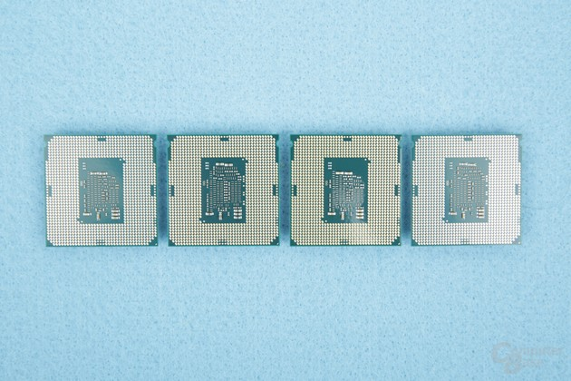 v.l.n.r.: Celeron, Pentium, Core i3 und Core i5