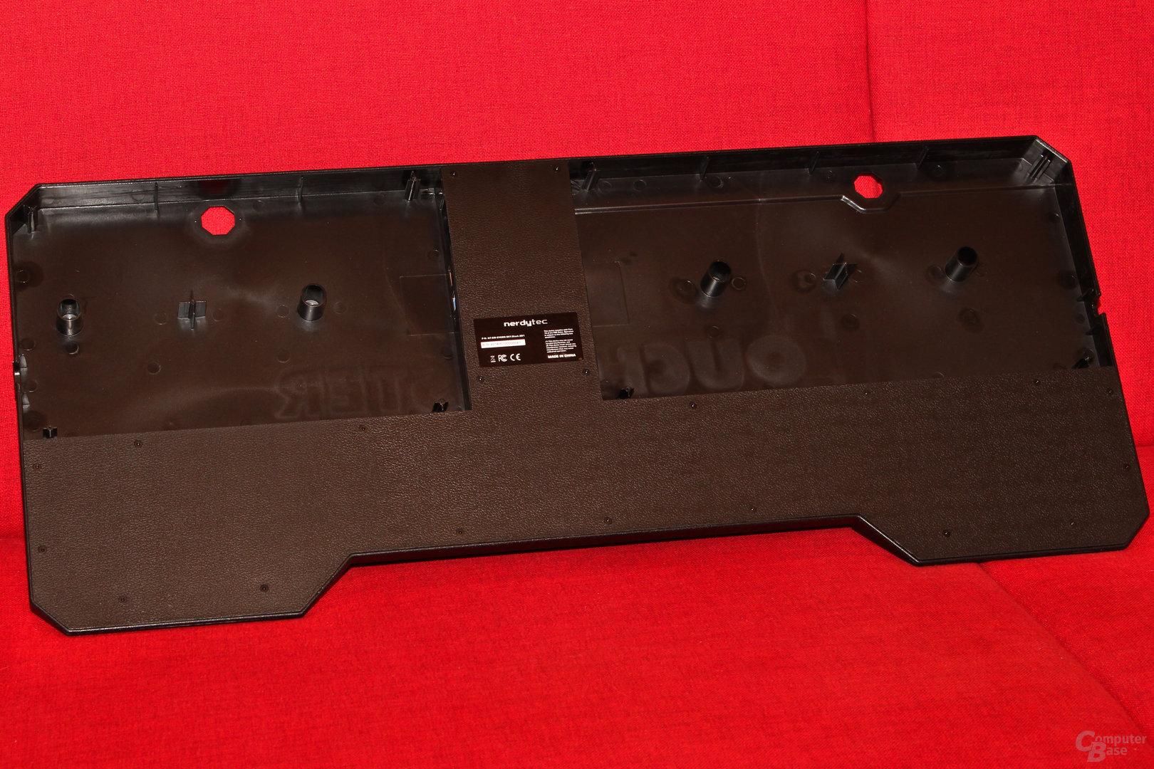 Die Kabel für Maus und Tastatur können getrennt verlegt werden