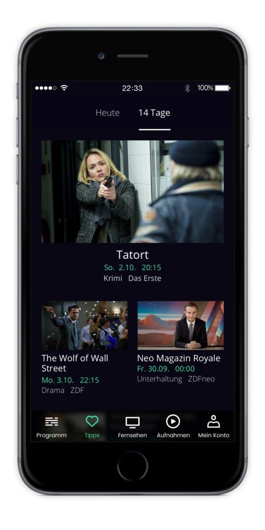 Die App von waipu.tv für iOS