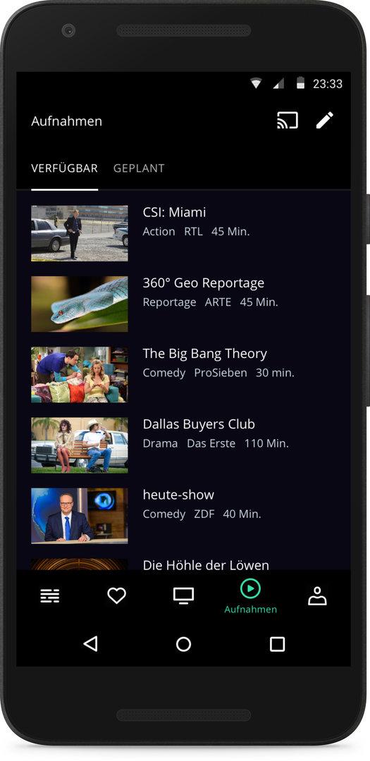 Die App von waipu.tv für Android