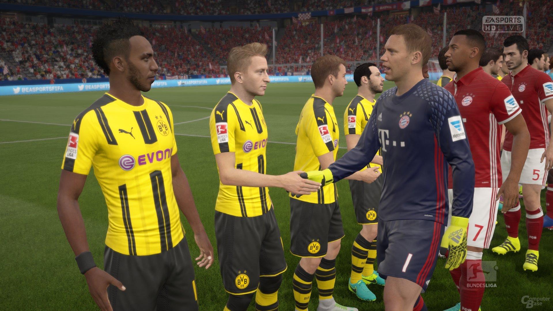 Shake-Hands vor dem Topspiel