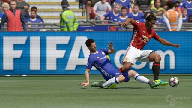 Ein Zweikampf in Fifa 17