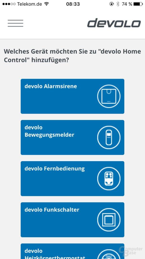 Devolo Home Control auf dem Smartphone