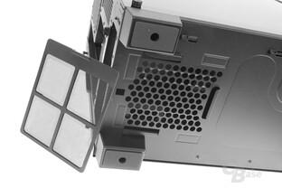 Corsair Crystal 460X RGB – Netzteilstaubfilter entfernt