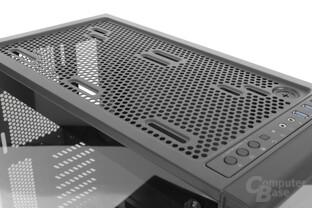 Corsair Crystal 460X RGB – Verschiedene Montagemöglichkeiten am Deckel