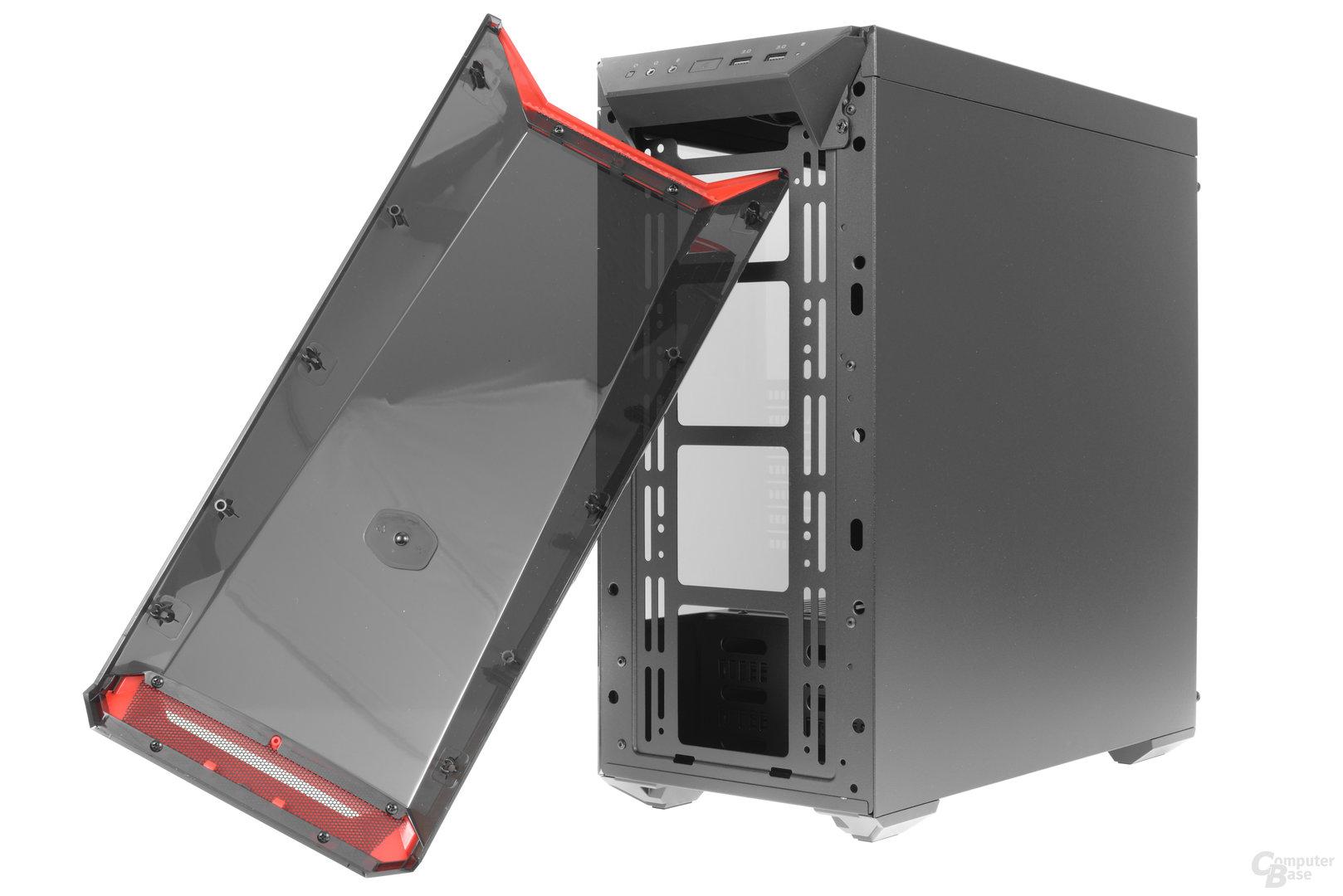 CoolerMaster MasterBox Lite 5 – Frontcover abgenommen