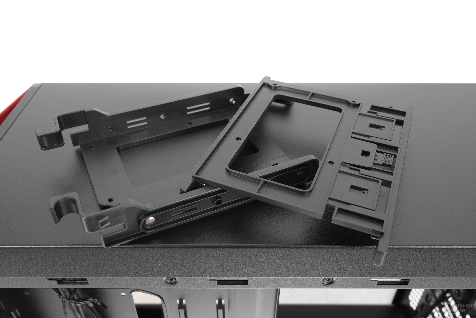 CoolerMaster MasterBox Lite 5 – Festplattenschienen im Detail