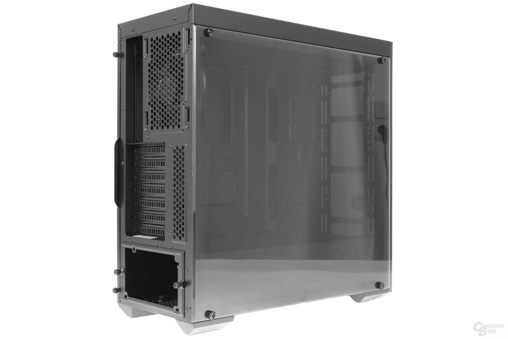 CoolerMaster MasterBox Lite 5 – Seitliche Heckansicht