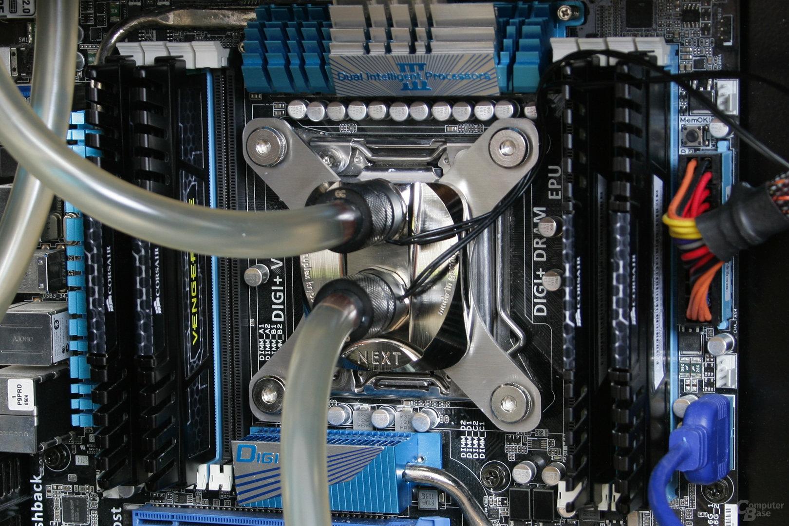 Aqua Computer Cuplex Kryos Next im Testsystem