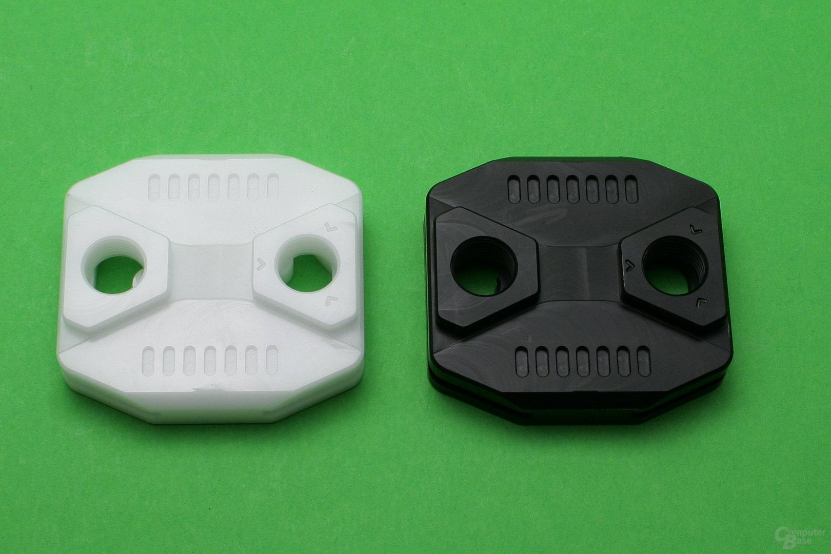 Anfi-tec drei: Kühlerdeckel wahlweise in weißem oder schwarzem POM