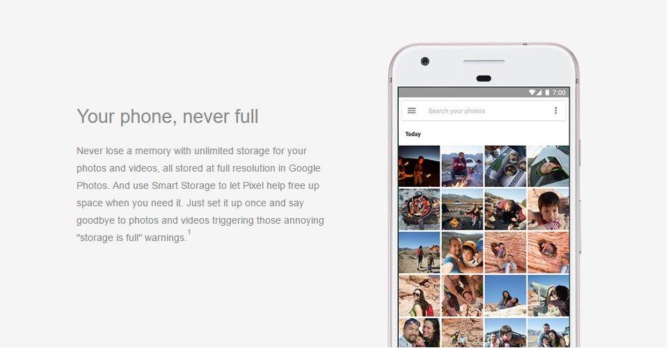 Offenbar gibt's für Pixel-Besitzer unbegrenzten Foto-Speicher für Bilder und Videos in voller Auflösung