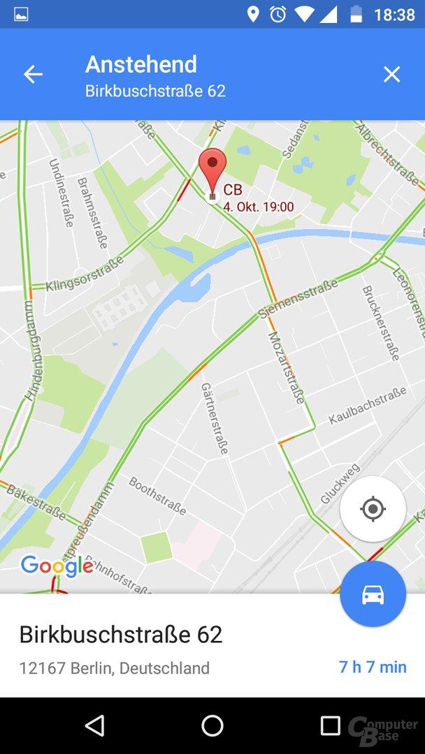 Anzeige von Terminen in Google Maps