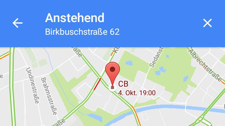 Neue Funktion: Google Maps zeigt Termine auf der Karte