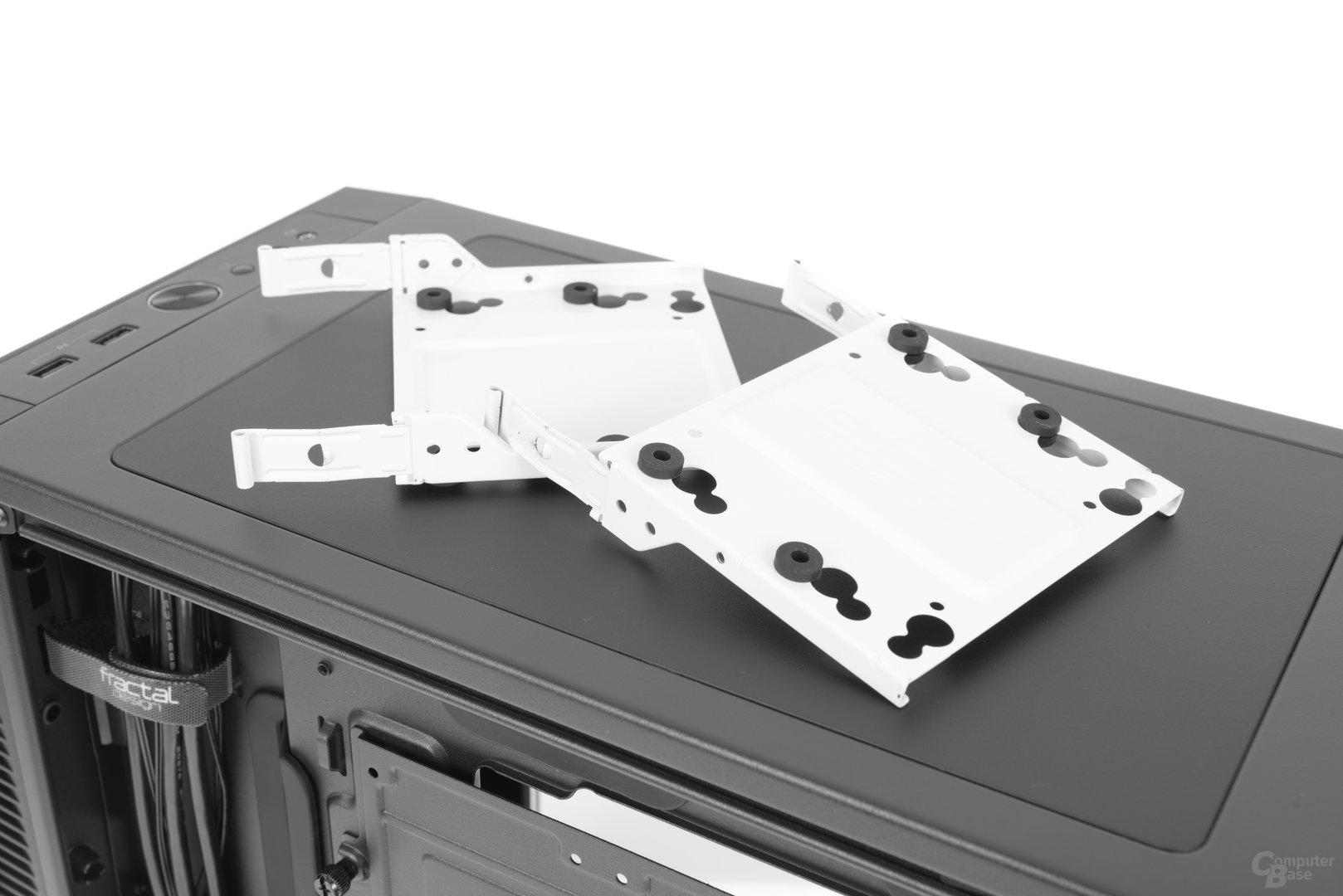 Fractal Design Define Mini C – Festplattenschienen im Detail
