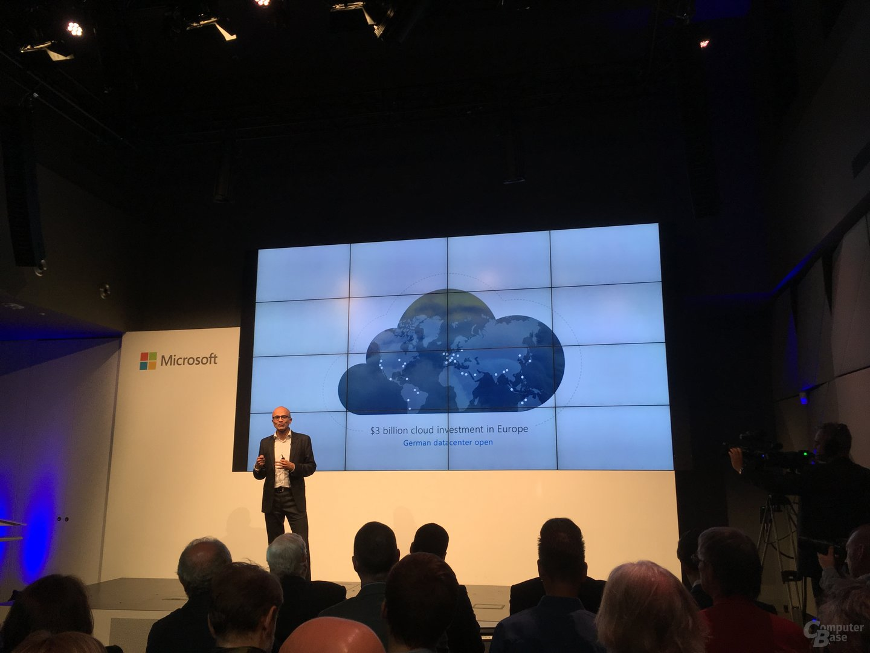 Satya Nadelle zur Microsoft Cloud in Berlin