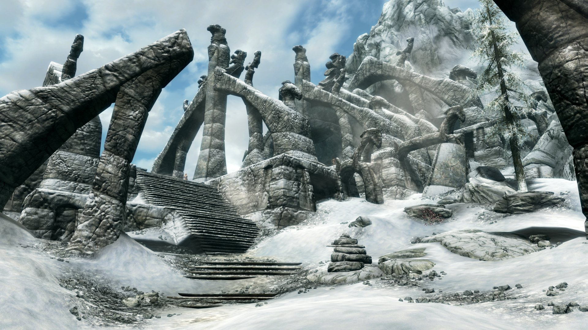 Skyrim in 4K auf der PS4: Bleak Falls