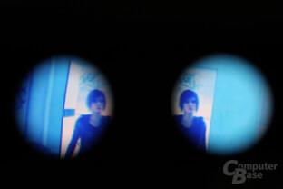 Cardboard mit Mirror's Edge Screenshot in VR-360-Ansicht