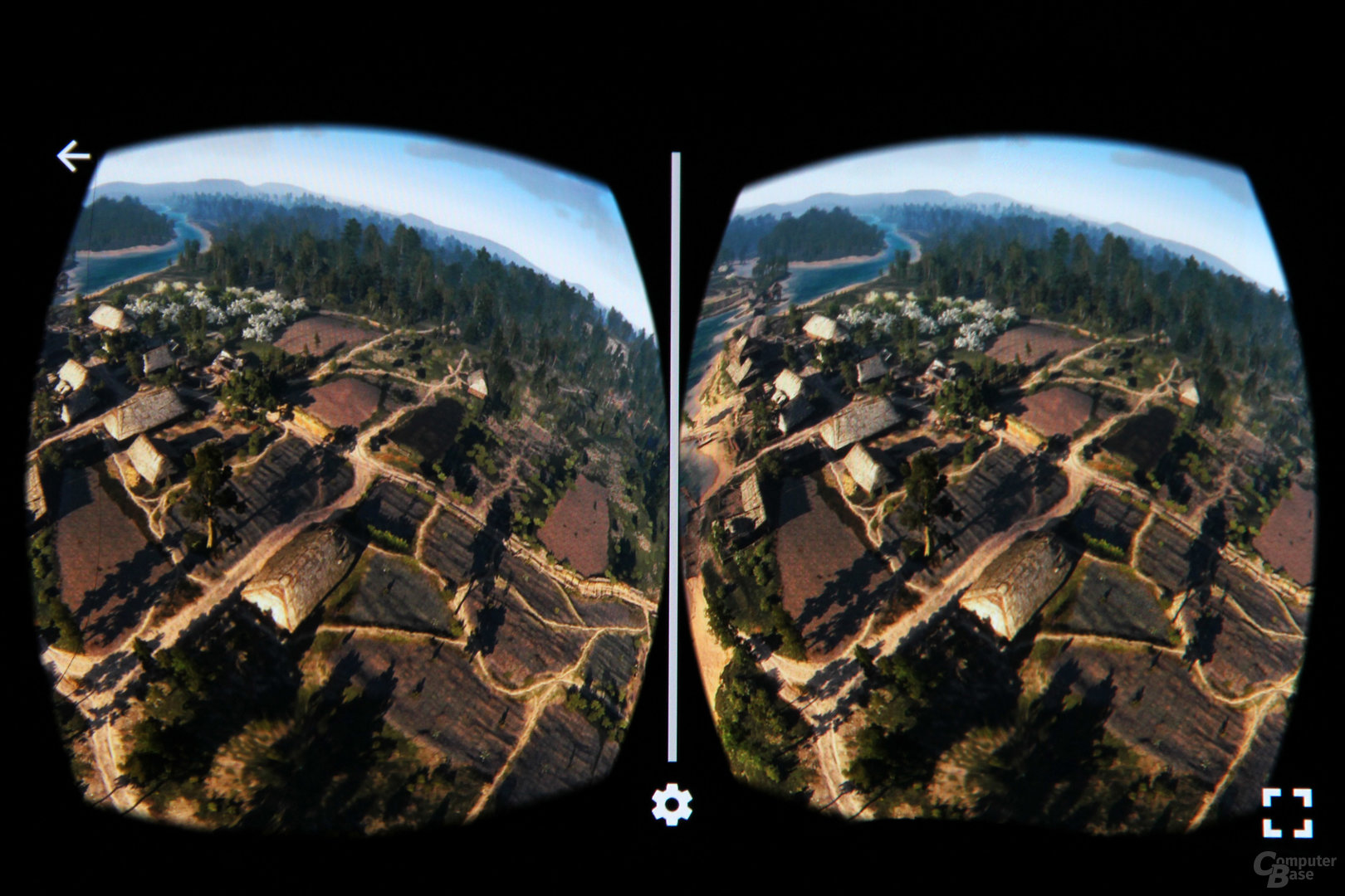 The Witcher 3 in VR-360-Ansicht in Nvidias VR-View-App