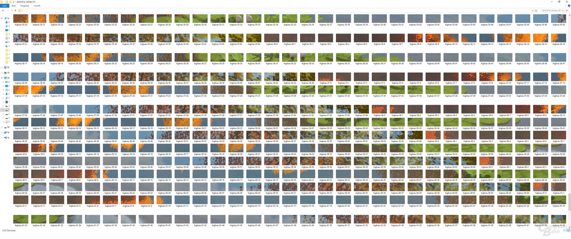 4.225 Einzelfotos für einen 33fachen FHD-Screenshot