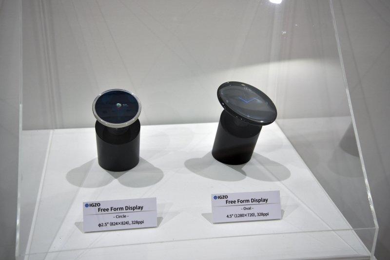 Ovale und runde Displays für Autos