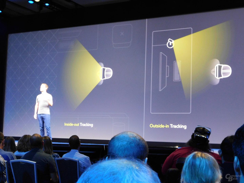 Zuckerberg zeigt kabellose VR-Brille