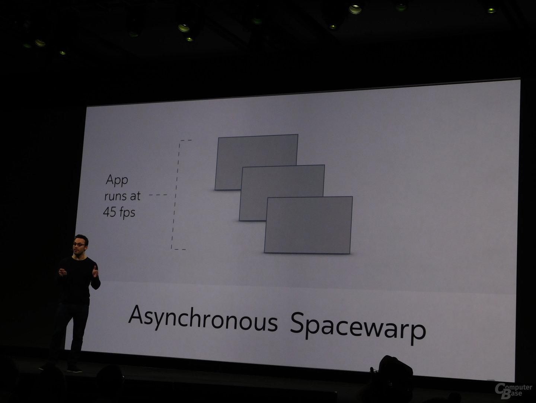 Asynchronous Spacewarp