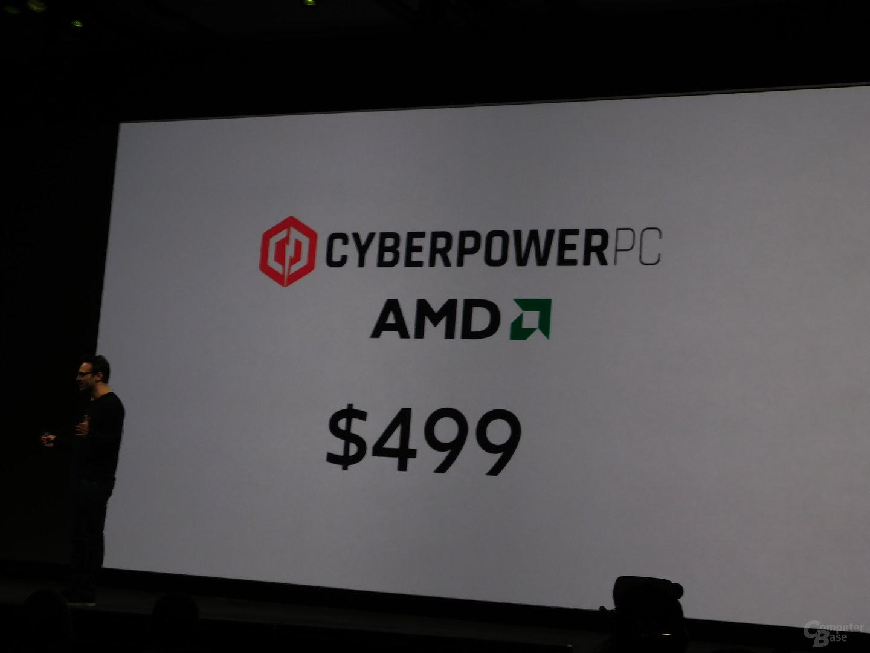 """Vorkonfigurierte """"Oculus ready""""-Komplettsysteme mit AMD sind ab 499 US-Dollar erhältlich"""