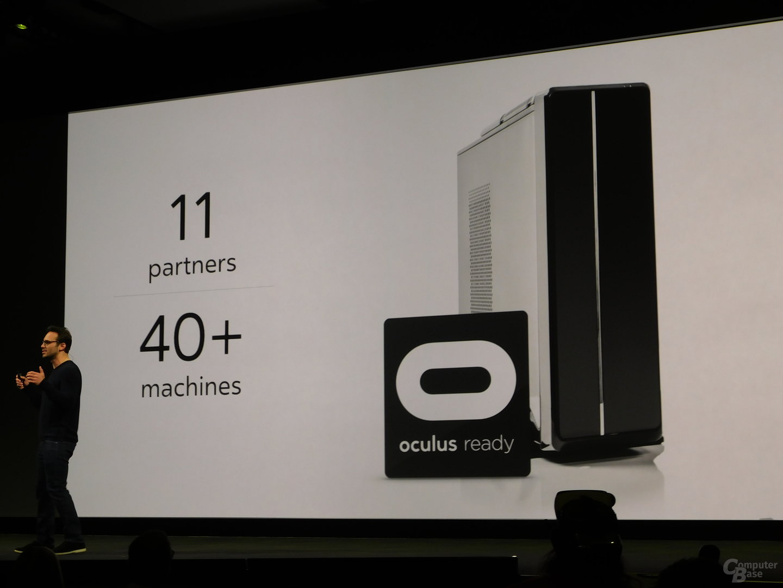 """Bisher haben 11 Hersteller ihre Desktop-Systeme als """"Oculus ready"""" zertifzieren lassen"""