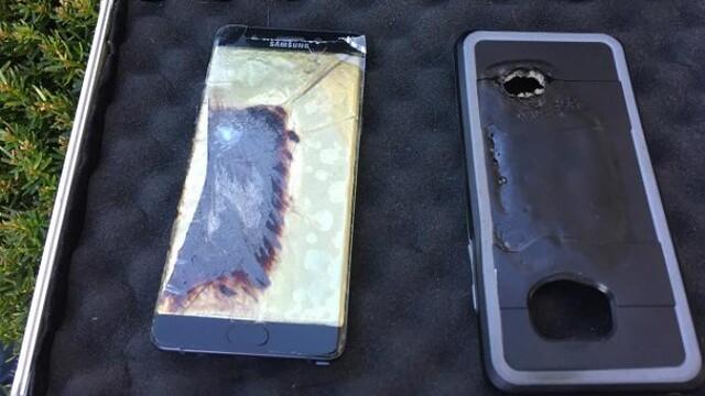 Verbranntes Galaxy Note 7 aus Nicholasville